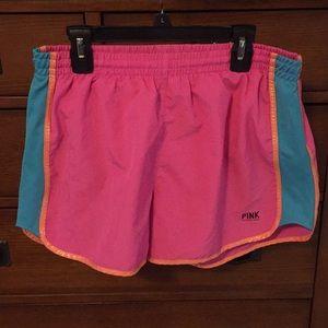 Pink Victoria's Secret running shorts